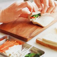 画像:高野豆腐の野菜巻き