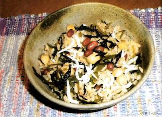 画像:海藻豆じゃこご飯