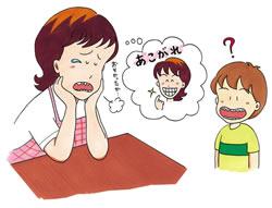 イラスト:歯の矯正の悩み
