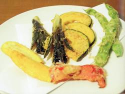 画像:旬野菜まるごと動物天ぷら