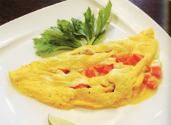画像:コロコロ野菜の豆乳入りメキシカンオムレツ